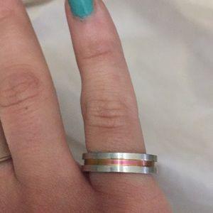 Metallic Rainbow Ring